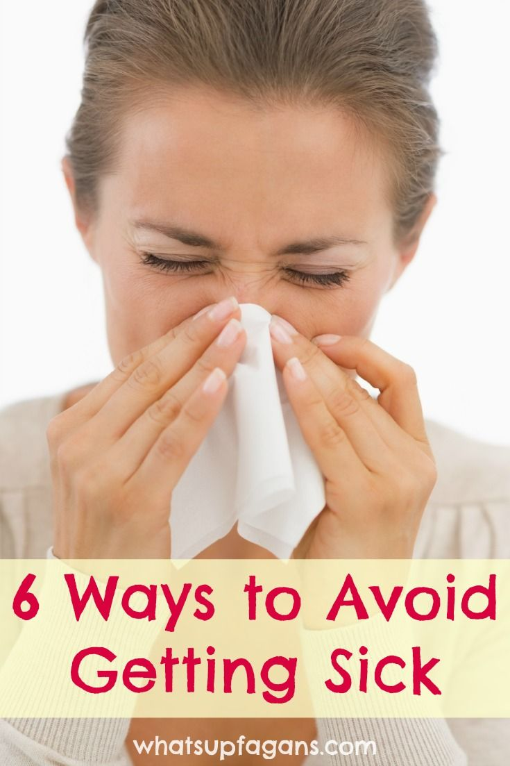 Six effective ways to prevent getting sick because being sick is the pits. Here are great ways at avoiding getting sick during the peak cold and flu season.
