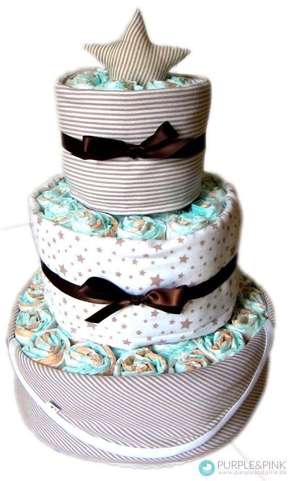 Star Deluxe Diaper Cake - luksus og forkælelses #dåbsgave til enhver baby og blikfang til enhver #babyshower