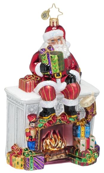 Santa Mantel Personalized Radko Ornament