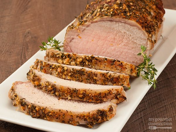 Boneless Sirloin Tip Pork Roast - this was excellent and all herbs were available in my garden!