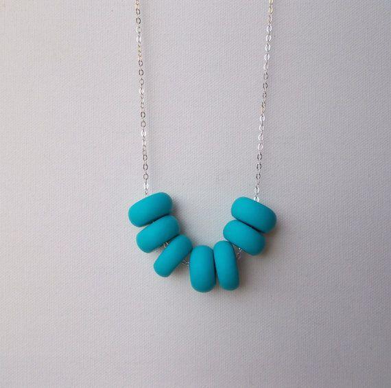 Handcrafted polymer clay necklace in Elsa, by craft & folk  https://www.etsy.com/ie/listing/219489762/elsa-handmade-polymer-clay-necklace?ref=related-1