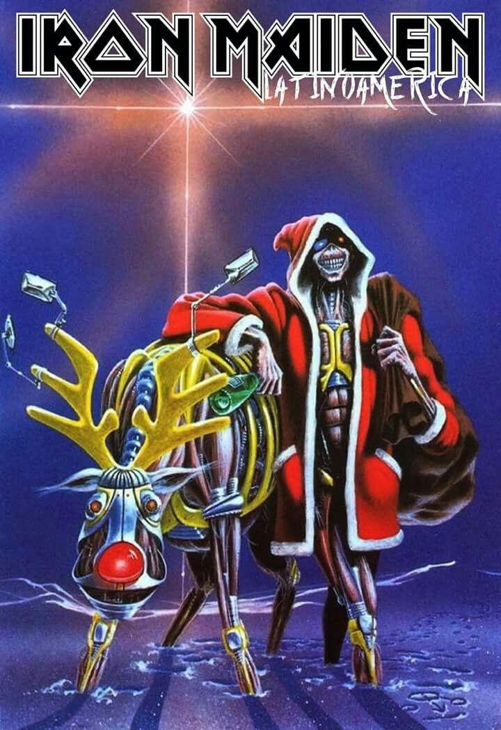 Heavy Metal Christmas.Eddie Xmas Metal Rock Iron Maiden Heavy Metal Art