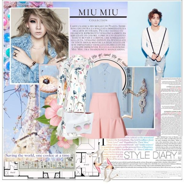 A fashion look from October 2014 featuring Miu Miu dresses, Miu Miu tops and Moschino Cheap & Chic skirts. Browse and shop related looks.