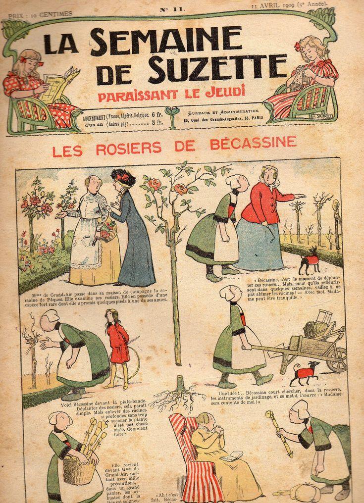 """1900s. """"La Semaine DE Suzette"""" N° 11 April 1909"""