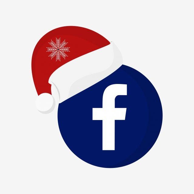 Logo Fb Christmas Clipart Vector Png Element Happy New Year Facebook Vector Illustration Design Art Logo