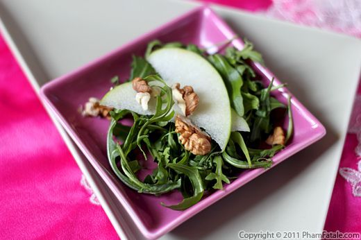 Rocket Salad with Granny Smith Apples