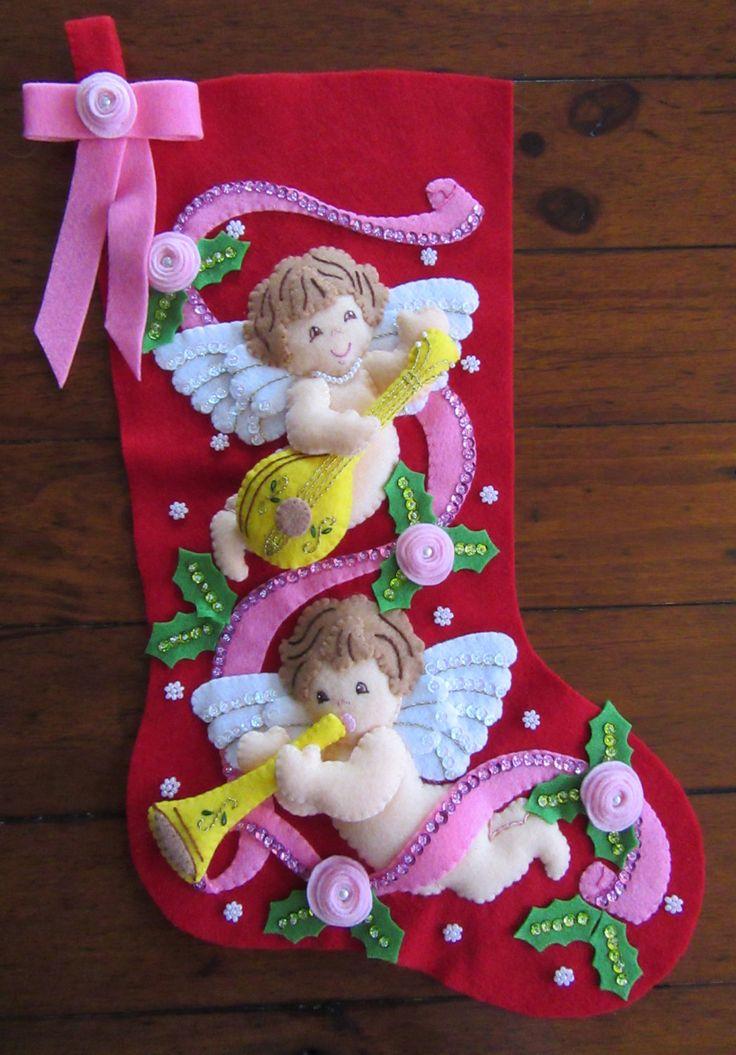 Querubines de Bucilla Navidad  terminados
