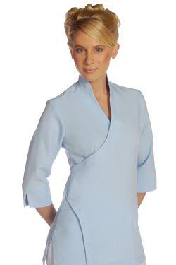 18 best images about esthetician uniforms on pinterest for Spa uniform blue