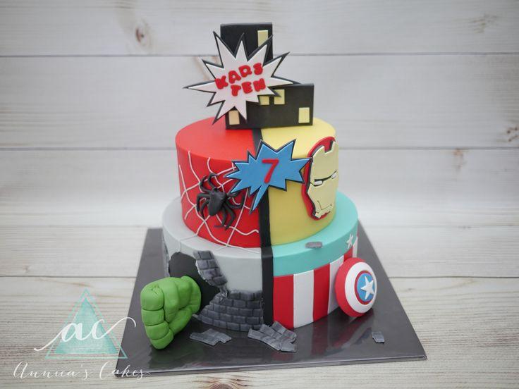 Marvel cake  Marvel taart