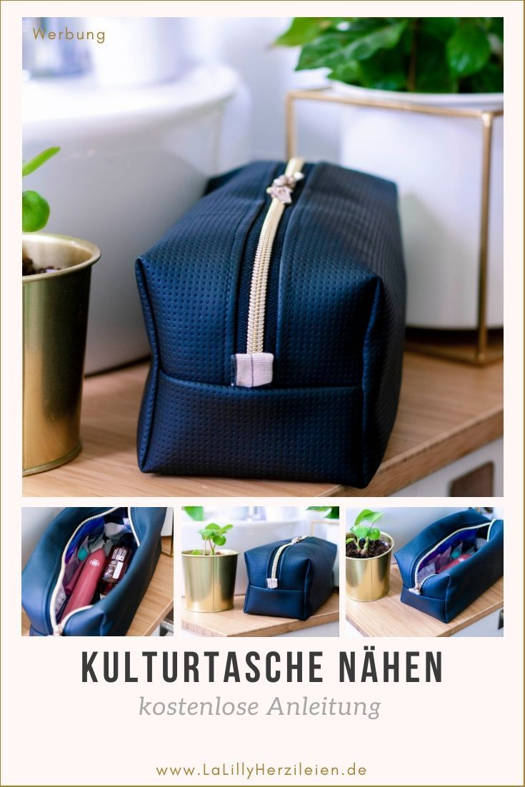 Sew toiletry bag with free instructions -  Neceser is a straightforward, simple toilet bag. It is perfect for men! Let and sew a toilet bag to - #bag #fashionjewelrydiy #Free #instructions #jewelryideasdiy #Sew #toiletry