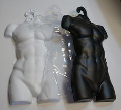Henta Plastic Body Forms | Clothing Retail Store Mannequin (Torso, Male, Man, Set of 5)
