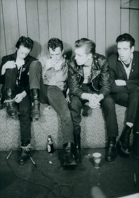 the Clash - love this black and white group shot!