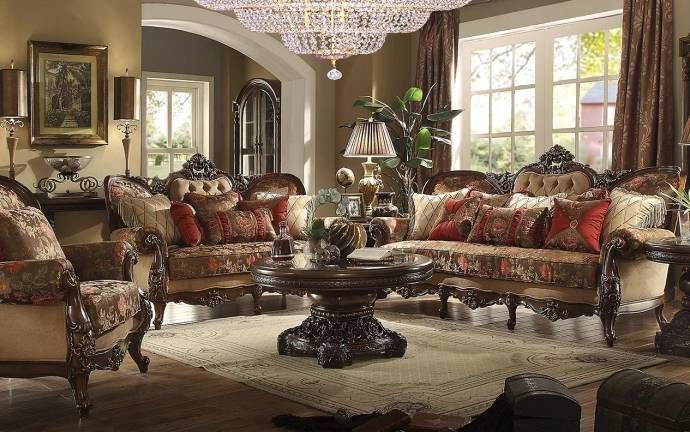 Dark Oak Floral Chenille Armchair Traditional Homey Design Hd 39 Hd 39 C Living Room Sets Small Living Room Design Burgundy Living Room