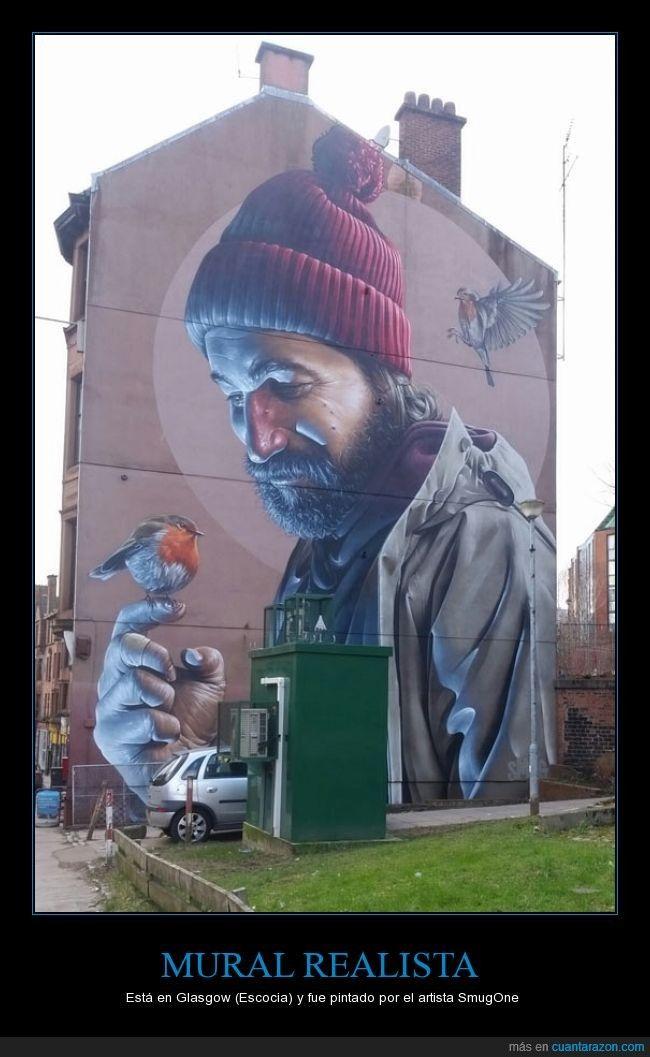 Me parece alucinante que alguien sea capaz de pintar graffitis así D: