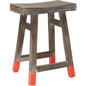 Deze kruk van HK Livingvoldoet volledig aan n van de laatste woontrends: de Dip-Dye trend! De laatste tijd worden meubels, gordijnen, lampenkappen en nog veel meer woonartikelen in de verf gedipt.