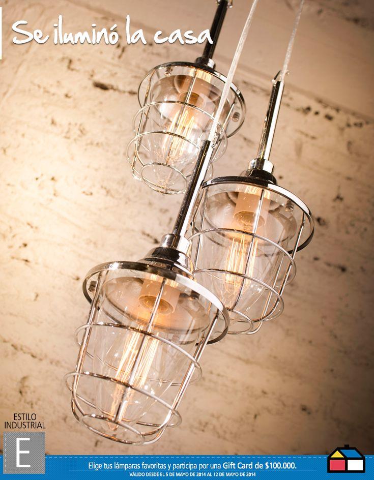 Estilo Industrial, Se iluminó la casa #Concurso #Sodimac