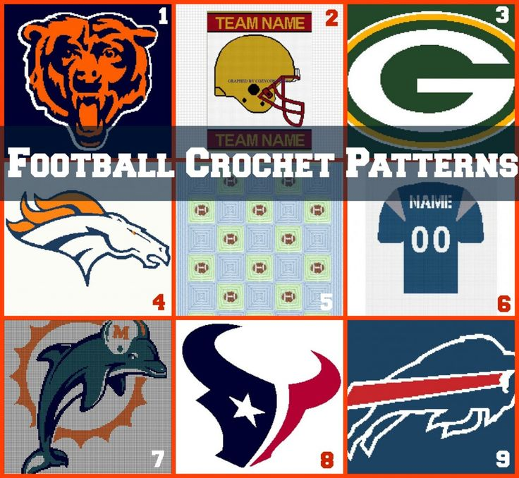 It's football season! Show your pride for your favorite team this year by crocheting an afghan with your team's logo. So sit back, relax, and crochet during the commercials this year so you can make the best football crochet afghan ever.