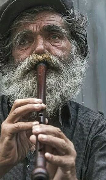 Man playing recorder
