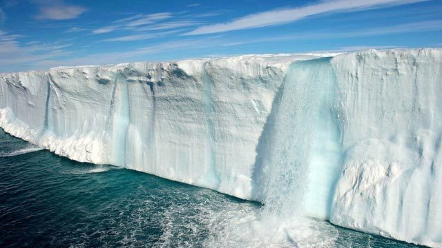 Sisse Brimberg and Cotton Coulson—two veteran National Geographic photographers who have been married for 28 years—have captured this beautifully surreal image of waterfalls fully made of ice. I guess that those ice caps are really melting.