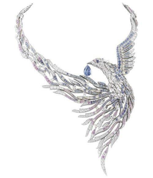 Van Cleef & Arpels diamond and sapphire phoenix
