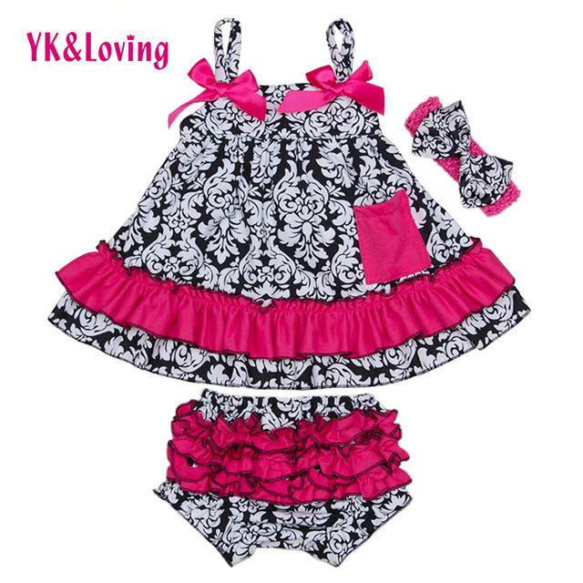 Good price 2017 Cotton Swing Sets for Toddlers Baby Girls Clothing Swing Top with Ruffle Bloomers Outfit Cute Newborn Clothes Set X029   just only $14.88 with free shipping worldwide  #babygirlsclothing Plese click on picture to see our special price for you