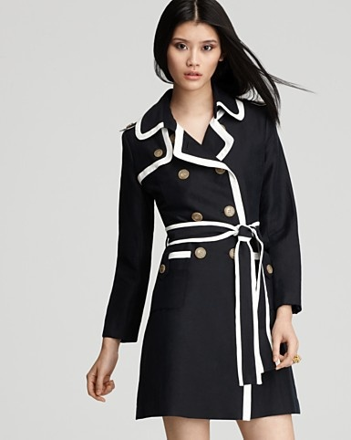Milly Coat-Piped Combo Trench: Cute Coats, Pipes Combos, Combos Trench, Millie Coatpip, Black White, Millie Coats, Coatpip Combos, Trench Coats, Millie Pipes