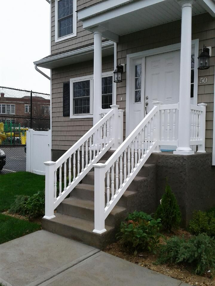 36 Pvc Spindle Outdoor Stair Railings Outdoor Stair Railing Outdoor Stairs Gates And Railings