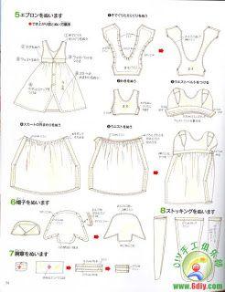 Creazioni con Stoffa: BARBIE - Abbigliamento modelli di libri