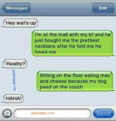 Funny Text About Boyfriend vs Dog