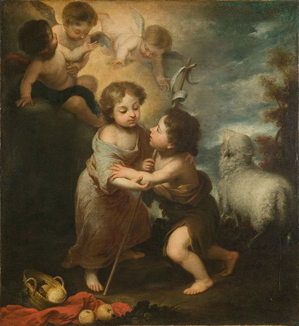 バルトロメ・エステバン・ムリーリョ《幼子イエスと洗礼者聖ヨハネ》 | 大エルミタージュ美術館展 |