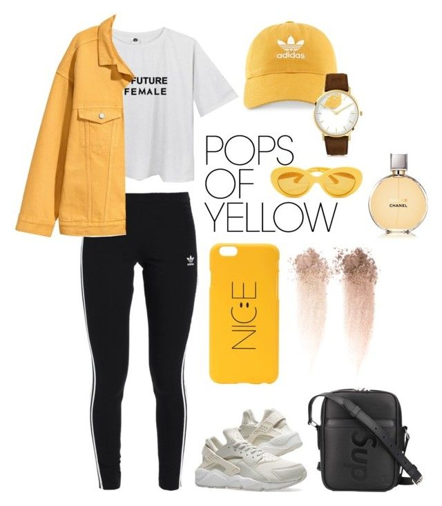 this is my yellow contest ♡ by jihan-heryawan on Polyvore featuring polyvore fashion style adidas Originals NIKE Louis Vuitton adidas Larsson & Jennings Chanel clothing PopsOfYellow NYFWYellow