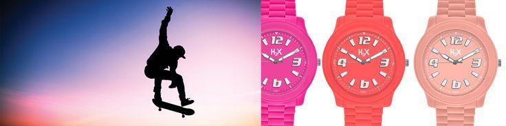 estate è... skate al tramonto. Tre colori della linea H2X SPLASH, orologi in silicone water resistant pensati per chi ama la vita all'aria aperta!