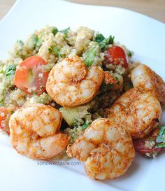 Spicy Grilled Shrimp and Quinoa Salad - try with Mojito Lime Marinade
