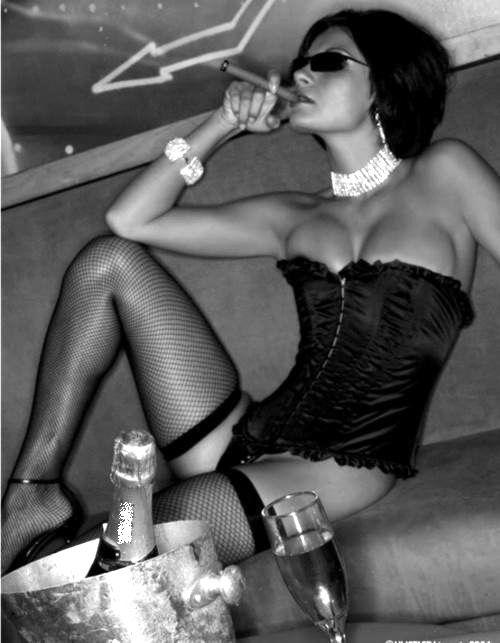 cigars and drinking smoking Hot girls