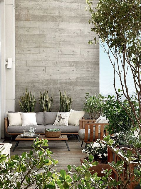 Grey and white outdoor space