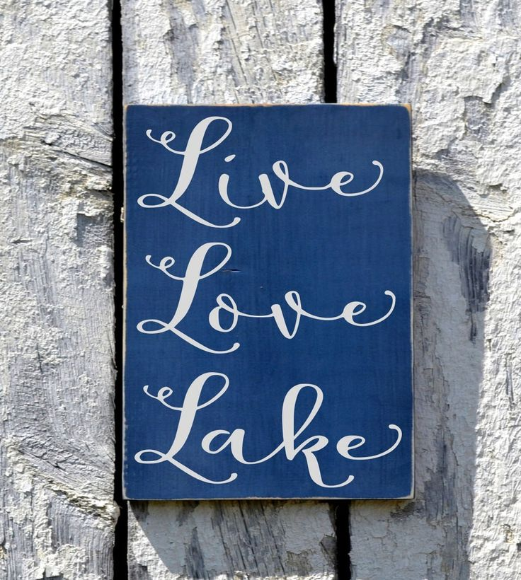 Lake House Decor Live Love Lake Sign Custom Wood