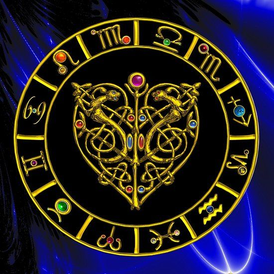 GOLD ZODIAC CHART  AND ASTRAL HEART WITH CELTIC KNOTS  COLLECTION #astrology #astrologist #psychicreader #celtic #celticknots #zodiac #zodiacal #birthday #heart #love