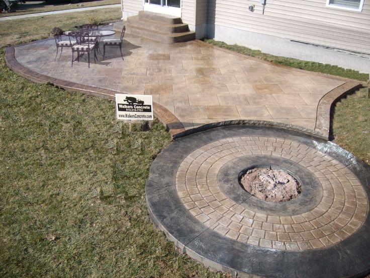 Stamped Concrete Patio Maineville Ohio 45039