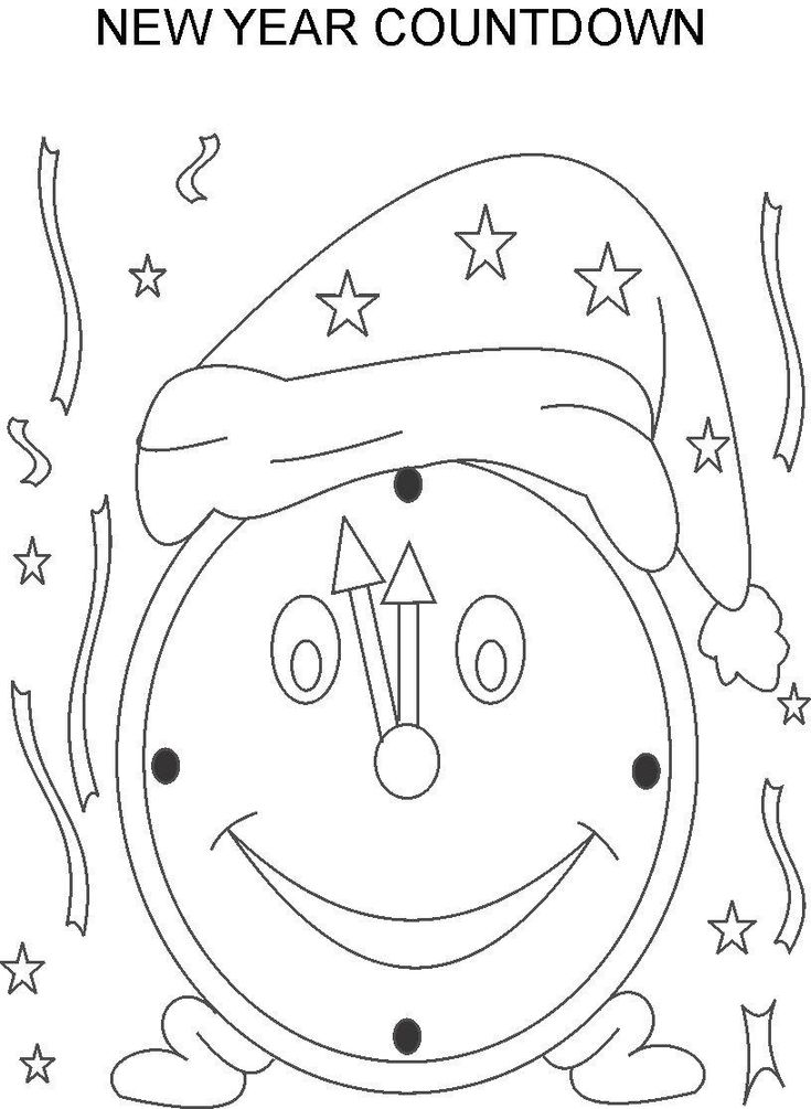 Happy New Year Coloring Pages Countdown To New Year Countdown Coloring Pages