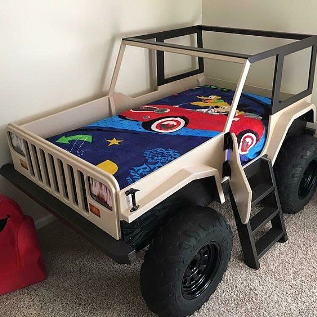 Jeep Bed Plans Twin Size Car Bed Jeep Bed Kids Car Bed