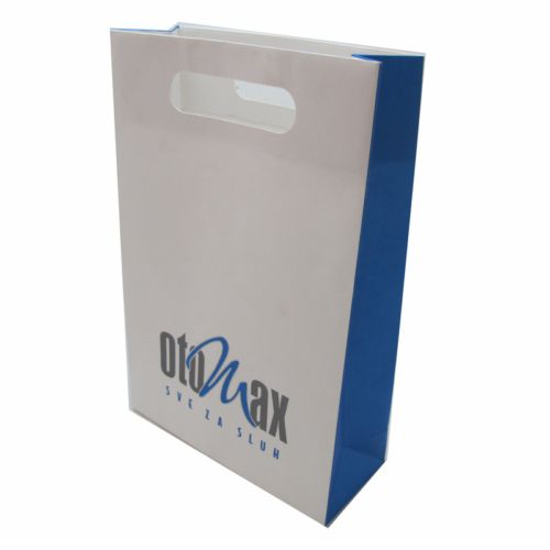 Custom Printed Die Cut Handle Paper Bags Wholesale
