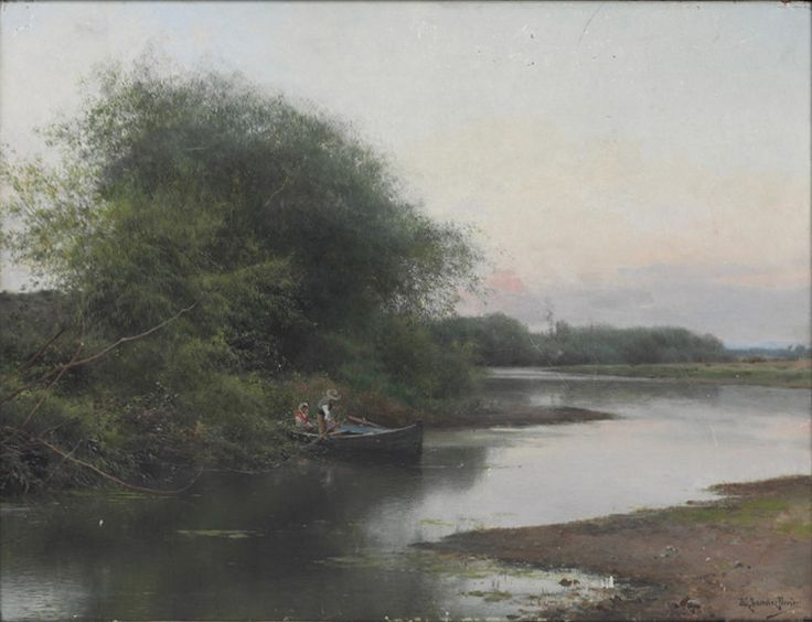 Emilio Sánchez Perrier - A Summer Day on the River I