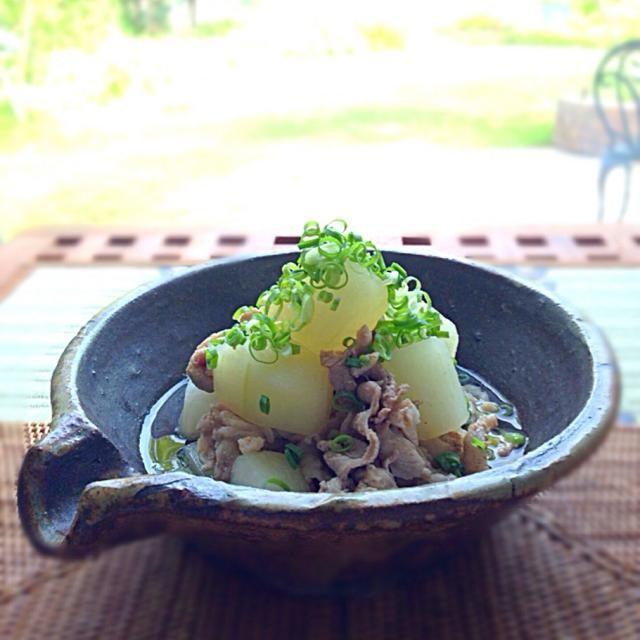 大好きな一品です - 130件のもぐもぐ - 冬瓜と豚肉をたいたん((o(´∀`)o)) by kunishintomo117