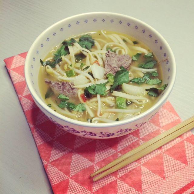 Thaise noedelsoep met biefstuk - Powered by @ultimaterecipe