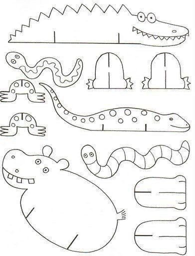 plusieurs planches sur le theme safari - A imprimer sur carton, colorier, découper, et monter