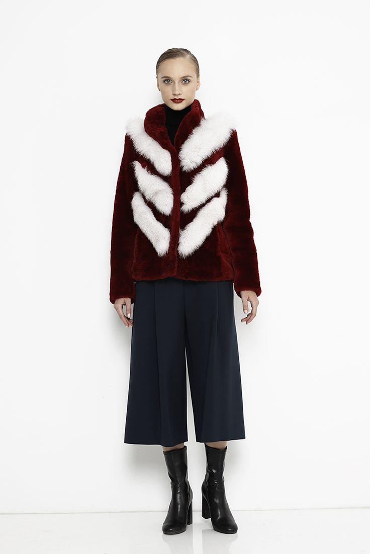 Fox fur with lamb coat