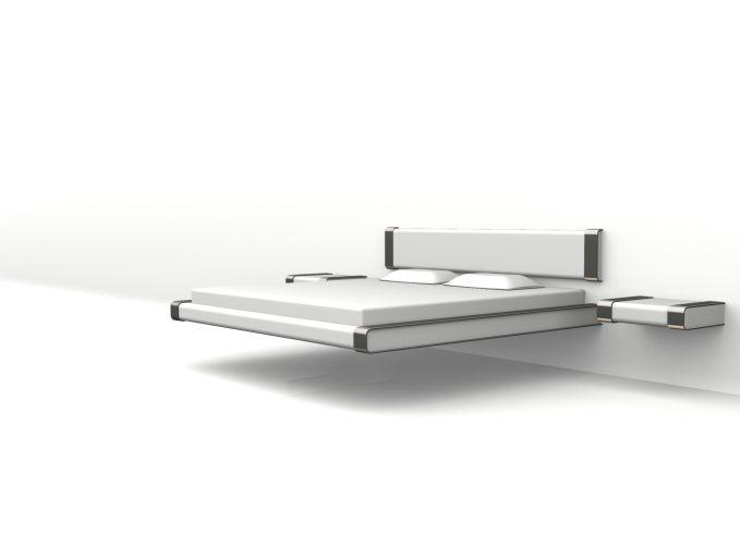 Lit suspendu blanc design | Nicolas Baleydier