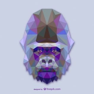 Conception triangle de gorille