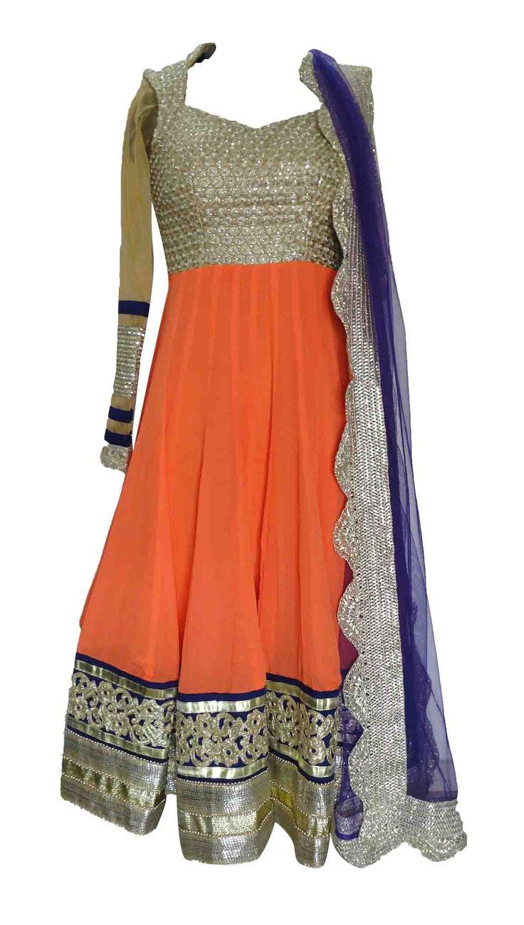 Orange Purple Dress — Sneha Jain — Casual Salwaar Kameez | Indianhanger.com