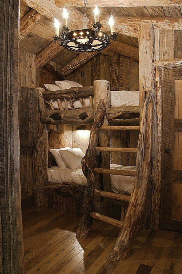 cool cabin bunk beds my style pinterest. Black Bedroom Furniture Sets. Home Design Ideas